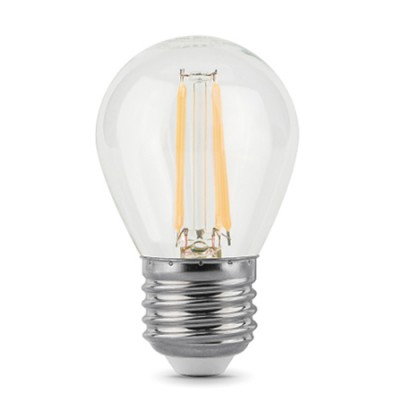 Лампа Gauss 105802205Р Filament Шар E27 5W 4100К (x2)В виде шарика<br>В интернет-магазине «Светодом» можно купить не только люстры и светильники, но и лампочки. В нашем каталоге представлены светодиодные, галогенные, энергосберегающие модели и лампы накаливания. В ассортименте имеются изделия разной мощности, поэтому у нас Вы сможете приобрести все необходимое для освещения.   Лампа Gauss 105802205Р обеспечит отличное качество освещения. При покупке ознакомьтесь с параметрами в разделе «Характеристики», чтобы не ошибиться в выборе. Там же указано, для каких осветительных приборов Вы можете использовать лампу Gauss 105802205РGauss 105802205Р.   Для оформления покупки воспользуйтесь «Корзиной». При наличии вопросов Вы можете позвонить нашим менеджерам по одному из контактных номеров. Мы доставляем заказы в Москву, Екатеринбург и другие города России.<br><br>Цветовая t, К: 4100<br>Тип лампы: LED<br>Тип цоколя: E27<br>MAX мощность ламп, Вт: 5