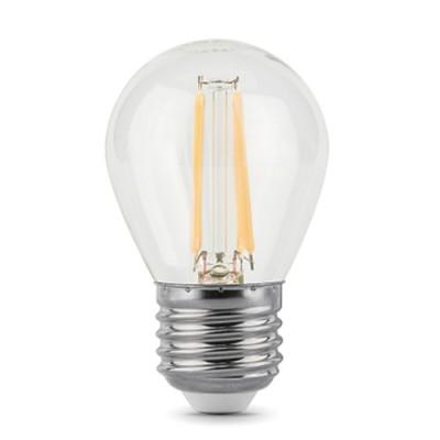 Лампа Gauss 105802105Р Filament Шар E27 5W 2700К (x2)Светодиодные лампы для люстр в виде шарика<br>В интернет-магазине «Светодом» можно купить не только люстры и светильники, но и лампочки. В нашем каталоге представлены светодиодные, галогенные, энергосберегающие модели и лампы накаливания. В ассортименте имеются изделия разной мощности, поэтому у нас Вы сможете приобрести все необходимое для освещения.   Лампа Gauss 105802105Р обеспечит отличное качество освещения. При покупке ознакомьтесь с параметрами в разделе «Характеристики», чтобы не ошибиться в выборе. Там же указано, для каких осветительных приборов Вы можете использовать лампу Gauss 105802105РGauss 105802105Р.   Для оформления покупки воспользуйтесь «Корзиной». При наличии вопросов Вы можете позвонить нашим менеджерам по одному из контактных номеров. Мы доставляем заказы в Москву, Екатеринбург и другие города России.<br><br>Цветовая t, К: WW - теплый белый 2700-3000 К<br>Тип лампы: LED<br>Тип цоколя: E27<br>MAX мощность ламп, Вт: 5