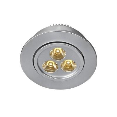 Светильник Markslojd 105888Круглые<br><br><br>Цветовая t, К: 3000<br>Тип лампы: LED<br>MAX мощность ламп, Вт: 3<br>Диаметр, мм мм: 90<br>Глубина, мм: 40<br>Диаметр врезного отверстия, мм: 70<br>Высота, мм: 46<br>Цвет арматуры: серебристый