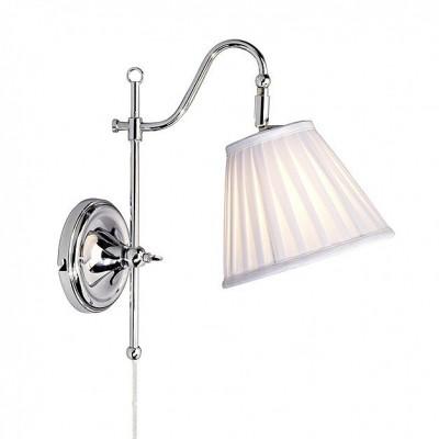 Светильник MarkSlojd  LampGustaf 105916Классические<br><br><br>Тип лампы: Накаливания / энергосбережения / светодиодная<br>Тип цоколя: E14<br>Количество ламп: 1<br>Ширина, мм: 200<br>MAX мощность ламп, Вт: 40<br>Расстояние от стены, мм: 140<br>Высота, мм: 340<br>Цвет арматуры: серебристый