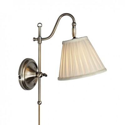 Светильник MarkSlojd  LampGustaf 105917Классические<br><br><br>Тип лампы: Накаливания / энергосбережения / светодиодная<br>Тип цоколя: E14<br>Количество ламп: 1<br>Ширина, мм: 200<br>MAX мощность ламп, Вт: 40<br>Расстояние от стены, мм: 140<br>Высота, мм: 340<br>Цвет арматуры: бронзовый