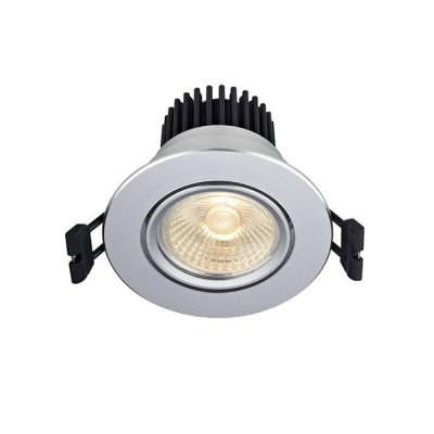 Светильник Markslojd 105954Круглые<br>Комплект из 5 светильников<br><br>Цветовая t, К: 3000<br>Тип лампы: LED<br>MAX мощность ламп, Вт: 5<br>Диаметр, мм мм: 86<br>Высота, мм: 70<br>Цвет арматуры: серебристый