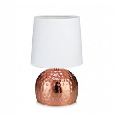 Светильник Markslojd 105962Современные<br>Настольная лампа – это не просто источник дополнительного освещения, но и оригинальный элемент декора. Его можно установить в спальне, гостиной, кабинете и других комнатах. Интернет-магазин «Светодом» предлагает настольные лампы разных стилей по доступным ценам. Благодаря большому ассортименту Вы обязательно найдете в нашем каталоге именно ту модель, которую искали.   Настольная лампа MarkSlojd 105962 – прекрасный вариант для завершения интерьера. Ее можно включить одновременно с люстрой для более яркого освещения или без нее для создания уютной атмосферы, настраивающей на отдых.   Купить настольную лампу MarkSlojd 105962 Вы можете с помощью виртуальной «Корзины» или по контактным номерам, указанным на сайте.<br><br>Тип лампы: Накаливания / энергосбережения / светодиодная<br>Тип цоколя: E14<br>Количество ламп: 1<br>MAX мощность ламп, Вт: 40<br>Диаметр, мм мм: 140<br>Высота, мм: 270<br>Цвет арматуры: медный
