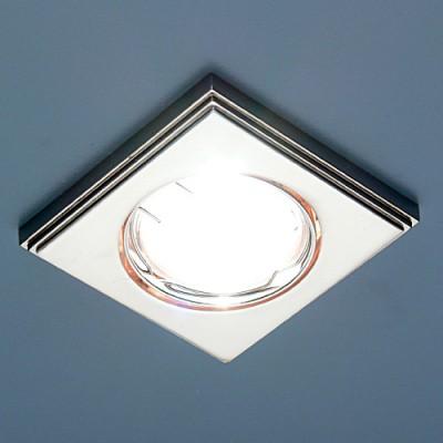 Светильник Elektrostandart 105A PS-N перламутр серебро/никельМеталлические потолочные светильники<br><br><br>S освещ. до, м2: 3<br>Тип лампы: галогенная<br>Тип цоколя: G5.3<br>Цвет арматуры: никель<br>Количество ламп: 1<br>Ширина, мм: 80<br>Диаметр врезного отверстия, мм: 75<br>Длина, мм: 80<br>Оттенок (цвет): перламутр серебро<br>MAX мощность ламп, Вт: 50