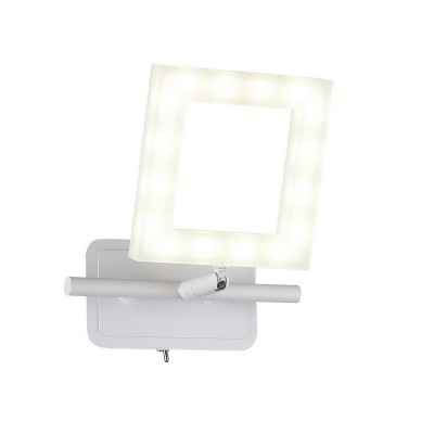 Спот настенный Piazza  106/1A-LEDWhitesandОжидается<br><br><br>Крепление: Крепежная планка<br>Тип цоколя: LED<br>Цвет арматуры: Белый матовый<br>Количество ламп: 1<br>Ширина, мм: 210<br>Длина, мм: 160<br>Высота, мм: 80<br>Оттенок (цвет): Белый<br>MAX мощность ламп, Вт: 8