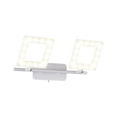 Спот настенный Piazza  106/2A-LEDWhitesandОжидается<br><br><br>Крепление: Крепежная планка<br>Тип лампы: LED<br>Тип цоколя: LED<br>Цвет арматуры: Белый матовый<br>Количество ламп: 2<br>Ширина, мм: 210<br>Длина, мм: 320<br>Высота, мм: 80<br>Оттенок (цвет): Белый<br>MAX мощность ламп, Вт: 8