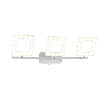 Спот настенный Piazza  106/3A-LEDWhitesandОжидается<br><br><br>Крепление: Крепежная планка<br>Тип лампы: LED<br>Тип цоколя: LED<br>Цвет арматуры: Белый матовый<br>Количество ламп: 3<br>Ширина, мм: 210<br>Длина, мм: 500<br>Высота, мм: 80<br>Оттенок (цвет): Белый<br>MAX мощность ламп, Вт: 8