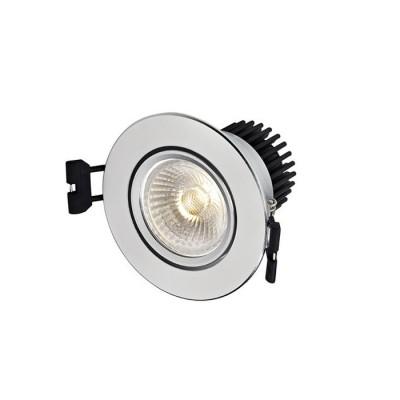 Светильник Markslojd 106004Круглые<br><br><br>Цветовая t, К: 3000<br>Тип лампы: LED<br>Тип цоколя: LED<br>MAX мощность ламп, Вт: 5<br>Диаметр, мм мм: 86<br>Высота, мм: 70<br>Цвет арматуры: серебристый