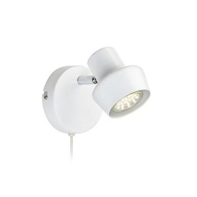 Светильник Markslojd 106083Одиночные<br><br><br>S освещ. до, м2: 2<br>Тип лампы: галогенная/LED<br>Тип цоколя: GU10<br>Цвет арматуры: белый<br>Ширина, мм: 115<br>Расстояние от стены, мм: 135<br>Высота, мм: 115<br>MAX мощность ламп, Вт: 35