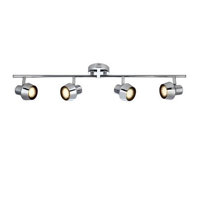 Светильник Markslojd 106088С 4 лампами<br><br><br>S освещ. до, м2: 7<br>Тип лампы: галогенная/LED<br>Тип цоколя: GU10<br>Цвет арматуры: серебристый<br>Количество ламп: 4<br>Ширина, мм: 165<br>Длина, мм: 445<br>Высота, мм: 140<br>MAX мощность ламп, Вт: 35