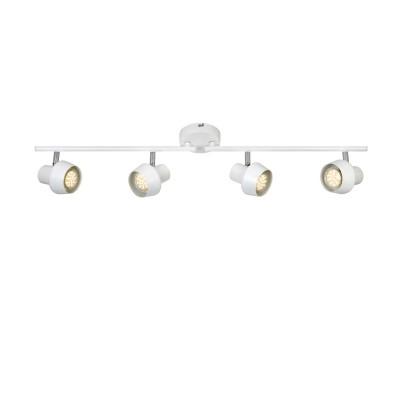 Светильник Markslojd 106089С 4 лампами<br><br><br>S освещ. до, м2: 7<br>Тип лампы: галогенная/LED<br>Тип цоколя: GU10<br>Цвет арматуры: белый<br>Количество ламп: 4<br>Ширина, мм: 165<br>Длина, мм: 445<br>Высота, мм: 140<br>MAX мощность ламп, Вт: 35