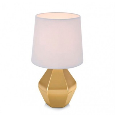 Светильник Markslojd 106142Современные<br>Настольная лампа – это не просто источник дополнительного освещения, но и оригинальный элемент декора. Его можно установить в спальне, гостиной, кабинете и других комнатах. Интернет-магазин «Светодом» предлагает настольные лампы разных стилей по доступным ценам. Благодаря большому ассортименту Вы обязательно найдете в нашем каталоге именно ту модель, которую искали.   Настольная лампа MarkSlojd 106142 – прекрасный вариант для завершения интерьера. Ее можно включить одновременно с люстрой для более яркого освещения или без нее для создания уютной атмосферы, настраивающей на отдых.   Купить настольную лампу MarkSlojd 106142 Вы можете с помощью виртуальной «Корзины» или по контактным номерам, указанным на сайте.<br><br>Тип лампы: Накаливания / энергосбережения / светодиодная<br>Тип цоколя: E14<br>Цвет арматуры: Золотой<br>Количество ламп: 1<br>Диаметр, мм мм: 180<br>Высота, мм: 330<br>MAX мощность ламп, Вт: 40