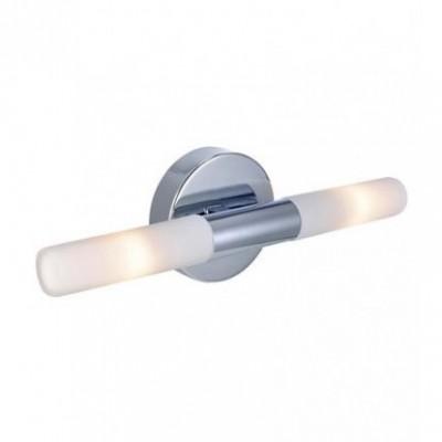 Светильник Markslojd 106180Хай-тек<br><br><br>Тип лампы: галогенная/LED<br>Тип цоколя: G9<br>Количество ламп: 2<br>Ширина, мм: 320<br>MAX мощность ламп, Вт: 18<br>Длина, мм: 100<br>Высота, мм: 65<br>Цвет арматуры: серебристый