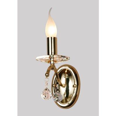 Светильник бра Favourite 1063-1WКлассические<br><br><br>S освещ. до, м2: 4<br>Тип лампы: накаливания / энергосбережения / LED-светодиодная<br>Тип цоколя: E14<br>Количество ламп: 1<br>Ширина, мм: 100<br>MAX мощность ламп, Вт: 60<br>Диаметр, мм мм: 160<br>Размеры: W100*H300*D160<br>Расстояние от стены, мм: 160<br>Высота, мм: 300<br>Цвет арматуры: золотой