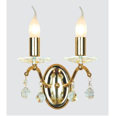 Светильник бра Favourite 1063-2WКлассические<br><br><br>S освещ. до, м2: 8<br>Тип лампы: накаливания / энергосбережения / LED-светодиодная<br>Тип цоколя: E14<br>Цвет арматуры: золотой<br>Количество ламп: 2<br>Ширина, мм: 240<br>Диаметр, мм мм: 160<br>Размеры: W240*H300*D160<br>Расстояние от стены, мм: 160<br>Высота, мм: 300<br>MAX мощность ламп, Вт: 60
