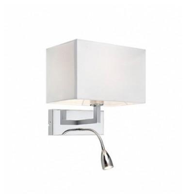 Светильник Markslojd 106307Современные<br><br><br>Тип лампы: Накаливания / энергосбережения / светодиодная<br>Тип цоколя: E27/LED<br>Цвет арматуры: серебристый<br>Количество ламп: 2<br>Ширина, мм: 260<br>Расстояние от стены, мм: 200<br>Высота, мм: 255<br>MAX мощность ламп, Вт: 60
