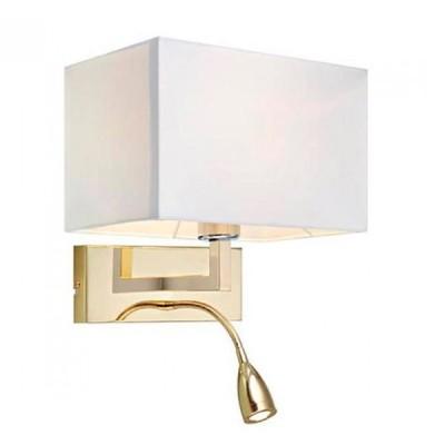 Светильник Markslojd 106308Современные<br><br><br>Тип лампы: Накаливания / энергосбережения / светодиодная<br>Тип цоколя: E27/LED<br>Количество ламп: 2<br>Ширина, мм: 260<br>MAX мощность ламп, Вт: 60<br>Расстояние от стены, мм: 200<br>Высота, мм: 400<br>Цвет арматуры: латунь