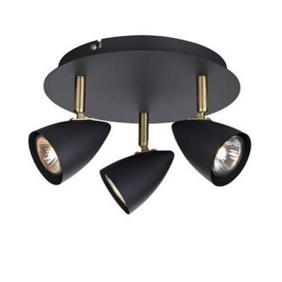 Светильник Markslojd 106320Тройные<br><br><br>S освещ. до, м2: 6<br>Тип лампы: галогенная/LED<br>Тип цоколя: GU10<br>Количество ламп: 3<br>Диаметр, мм мм: 230<br>Высота, мм: 150<br>MAX мощность ламп, Вт: 35