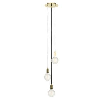 Подвес Markslojd 106333тройные подвесные светильники<br><br><br>Установка на натяжной потолок: Да<br>Крепление: Планка<br>Тип лампы: Накаливания / энергосбережения / светодиодная<br>Тип цоколя: E27<br>Цвет арматуры: латунь<br>Количество ламп: 3<br>Диаметр, мм мм: 250<br>Высота полная, мм: 1600<br>Поверхность арматуры: блестящая<br>Оттенок (цвет): латунь<br>MAX мощность ламп, Вт: 60<br>Общая мощность, Вт: 180