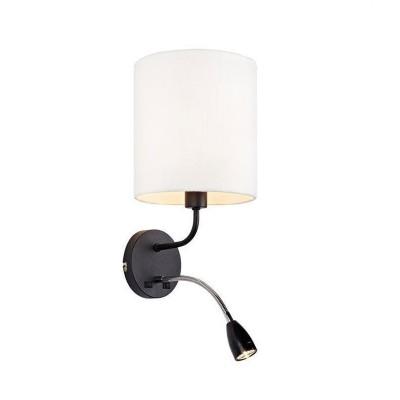 Бра Markslojd 106445современные бра модерн<br><br><br>Тип лампы: Накаливания / энергосбережения / светодиодная<br>Тип цоколя: E14<br>Цвет арматуры: черный<br>Количество ламп: 2<br>Расстояние от стены, мм: 160<br>Высота, мм: 440<br>Поверхность арматуры: матовая<br>Оттенок (цвет): черный<br>MAX мощность ламп, Вт: 40