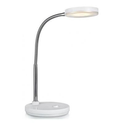 Светильник Markslojd 106466Светодиодные<br>Настольная лампа – это не просто источник дополнительного освещения, но и оригинальный элемент декора. Его можно установить в спальне, гостиной, кабинете и других комнатах. Интернет-магазин «Светодом» предлагает настольные лампы разных стилей по доступным ценам. Благодаря большому ассортименту Вы обязательно найдете в нашем каталоге именно ту модель, которую искали.   Настольная лампа MarkSlojd 106466 – прекрасный вариант для завершения интерьера. Ее можно включить одновременно с люстрой для более яркого освещения или без нее для создания уютной атмосферы, настраивающей на отдых.   Купить настольную лампу MarkSlojd 106466 Вы можете с помощью виртуальной «Корзины» или по контактным номерам, указанным на сайте.<br><br>Тип лампы: LED<br>Тип цоколя: LED<br>MAX мощность ламп, Вт: 5<br>Диаметр, мм мм: 140<br>Высота, мм: 350<br>Цвет арматуры: белый