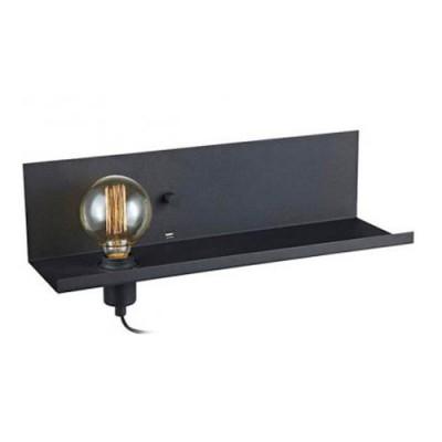 Светильник Markslojd 106482Современные<br><br><br>Тип лампы: Накаливания / энергосбережения / светодиодная<br>Тип цоколя: E27<br>Количество ламп: 1<br>Ширина, мм: 500<br>MAX мощность ламп, Вт: 60<br>Расстояние от стены, мм: 200<br>Высота, мм: 135<br>Цвет арматуры: черный