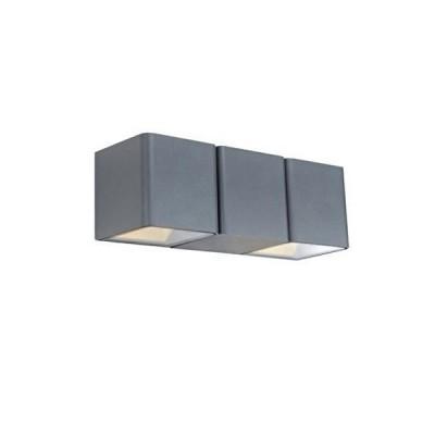 Светильник Markslojd 106517 CETO WALL 2L Dark Greyуличные настенные светильники<br><br><br>Тип лампы: LED - светодиодная<br>Тип цоколя: LED, встроенные светодиоды<br>Цвет арматуры: серый<br>Количество ламп: 2<br>Ширина, мм: 230<br>Высота, мм: 80<br>Поверхность арматуры: матовая<br>Оттенок (цвет): серый<br>MAX мощность ламп, Вт: 4