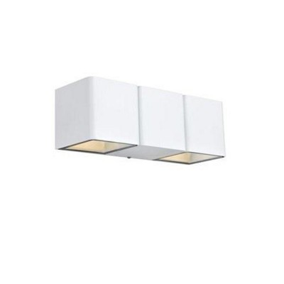 Светильник уличный Markslojd 106518 CETO Wall 2L WhiteУличные настенные светильники<br><br><br>Тип лампы: LED - светодиодная<br>Тип цоколя: LED, встроенные светодиоды<br>Цвет арматуры: белый<br>Количество ламп: 2<br>Ширина, мм: 230<br>Высота, мм: 80<br>Поверхность арматуры: матовая<br>Оттенок (цвет): белый<br>MAX мощность ламп, Вт: 4