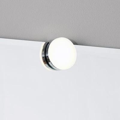 Светильник настенный Markslojd 106580 AJACCIO Wall ChromeБра хай тек стиля<br><br><br>Тип лампы: LED - светодиодная<br>Тип цоколя: LED, встроенные светодиоды<br>Цвет арматуры: серебристый<br>Количество ламп: 1<br>Диаметр, мм мм: 80<br>Поверхность арматуры: глянцевая<br>Оттенок (цвет): серебристый<br>MAX мощность ламп, Вт: 4