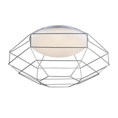 Светильник потолочный Markslojd 106829 NEST plafond D49 silverсовременные потолочные люстры модерн<br><br><br>Тип лампы: LED - светодиодная<br>Тип цоколя: LED, встроенные светодиоды<br>Цвет арматуры: серебристый<br>Количество ламп: 1<br>Диаметр, мм мм: 450<br>Высота, мм: 290<br>Поверхность арматуры: матовая<br>Оттенок (цвет): серебристый