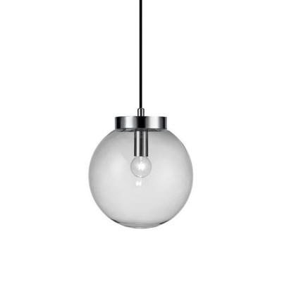 Светильник подвес Markslojd 106836 BALL Pendant 1L Chrome/Clearодиночные подвесные светильники<br><br><br>Тип лампы: Накаливания / энергосбережения / светодиодная<br>Тип цоколя: E14<br>Цвет арматуры: серебристый<br>Количество ламп: 1<br>Диаметр, мм мм: 220<br>Высота полная, мм: 1500<br>Поверхность арматуры: блестящая<br>Оттенок (цвет): серебристый<br>MAX мощность ламп, Вт: 25