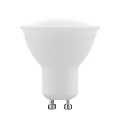 Eglo 10686 Лампа светодиодная диммируемая RGB с пультом упр-я, 4W (GU10), 3000K, 220lmЗеркальные Gu10<br><br><br>Цветовая t, К: 3000<br>Тип лампы: LED<br>Тип цоколя: GU10<br>MAX мощность ламп, Вт: 4<br>Диаметр, мм мм: 53<br>Высота, мм: 54