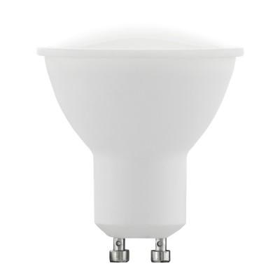 Eglo 10687 Лампа светодиодная диммируемая RGB с пультом упр-я, 3х4W (GU10), 3000K, 220lmДиммируемые<br><br><br>Цветовая t, К: 3000<br>Тип лампы: LED<br>Тип цоколя: GU10<br>MAX мощность ламп, Вт: 4<br>Диаметр, мм мм: 53<br>Высота, мм: 54