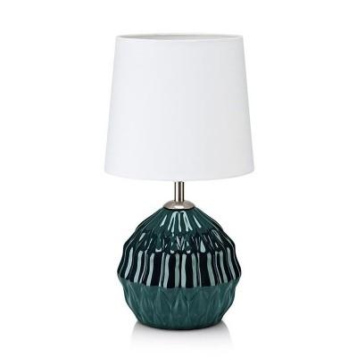 Настольная лампа Markslojd 106882 LORA table greenСовременные настольные лампы модерн<br><br><br>Тип лампы: Накаливания / энергосбережения / светодиодная<br>Тип цоколя: E14<br>Цвет арматуры: серебристый<br>Количество ламп: 1<br>Диаметр, мм мм: 180<br>Высота, мм: 340<br>Поверхность арматуры: глянцевая<br>Оттенок (цвет): зеленый<br>MAX мощность ламп, Вт: 40