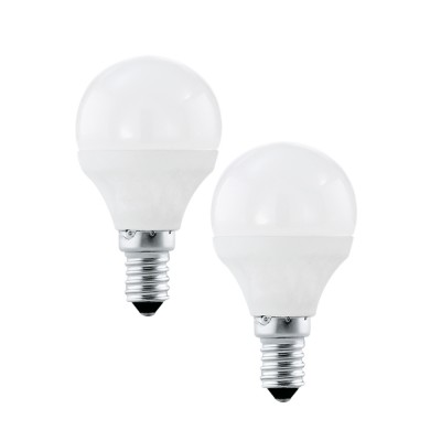 EGLO ИС 10776 Лампа светодиодная P45, 2х4W (Е14), 4000K, 320lm, 2шт. в комплектеСтандартный вид<br><br><br>Цветовая t, К: 4000<br>Тип лампы: LED<br>Тип цоколя: E14<br>Количество ламп: 2<br>MAX мощность ламп, Вт: 4<br>Диаметр, мм мм: 45<br>Высота, мм: 79