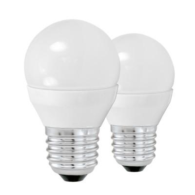 Eglo 10777 Лампа светодиодная G45, 2х4W (Е27), 3000K, 320lm, 2 шт. в комплектеСтандартный вид<br><br><br>Цветовая t, К: 3000<br>Тип лампы: LED<br>Тип цоколя: E27<br>Количество ламп: 2<br>Диаметр, мм мм: 45<br>Высота, мм: 79<br>MAX мощность ламп, Вт: 4