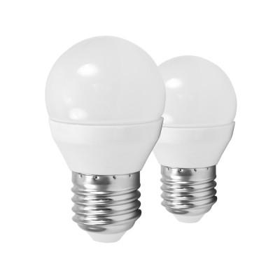 EGLO ИС 10778 Лампа светодиодная G45, 2х4W (Е27), 4000K, 320lm, 2 шт. в комплектеСтандартный вид<br><br><br>Цветовая t, К: 4000<br>Тип лампы: LED<br>Тип цоколя: E27<br>Количество ламп: 2<br>MAX мощность ламп, Вт: 4<br>Диаметр, мм мм: 45<br>Высота, мм: 79