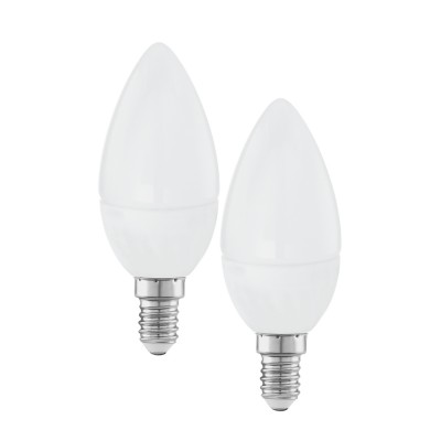 EGLO ИС 10793 Лампа светодиодная Свеча, 2х4W (E14), 4000K, 320lm, 2 шт. в комплектеВ виде свечи<br><br><br>Цветовая t, К: 4000<br>Тип лампы: LED<br>Тип цоколя: E14<br>Количество ламп: 2<br>Диаметр, мм мм: 37<br>Высота, мм: 99