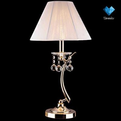 Светильник настольный Евросвет 1087/1С абажуром<br>Настольная лампа – это не просто источник дополнительного освещения, но и оригинальный элемент декора. Его можно установить в спальне, гостиной, кабинете и других комнатах. Интернет-магазин «Светодом» предлагает настольные лампы разных стилей по доступным ценам. Благодаря большому ассортименту Вы обязательно найдете в нашем каталоге именно ту модель, которую искали.   Настольная лампа Евросвет 1087/1 – прекрасный вариант для завершения интерьера. Ее можно включить одновременно с люстрой для более яркого освещения или без нее для создания уютной атмосферы, настраивающей на отдых.   Купить настольную лампу Евросвет 1087/1 Вы можете с помощью виртуальной «Корзины» или по контактным номерам, указанным на сайте.<br><br>S освещ. до, м2: 4<br>Тип лампы: накал-я - энергосбер-я<br>Тип цоколя: E14<br>Цвет арматуры: золотой<br>Количество ламп: 1<br>Диаметр, мм мм: 300<br>Высота, мм: 570<br>MAX мощность ламп, Вт: 60