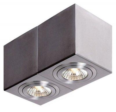 Lucide 10954/12/12 COSДаунлайты<br><br><br>Тип лампы: галогенная<br>Тип цоколя: GU10<br>Цвет арматуры: серебристый<br>Количество ламп: 2<br>Ширина, мм: 90<br>Длина, мм: 180<br>Высота, мм: 101<br>MAX мощность ламп, Вт: 35