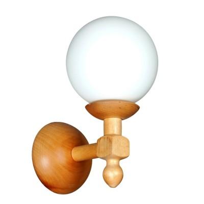 Аврора Белла 11001-1B Светильник настенный браРустика<br>Уютная серия светильников Белла выполнена из дерева в деревенском стиле.<br>Деревянный каркас выполнен из сосны и предлагается в трех цветах: натуральный, дуб и венге.<br>Плафон выполнен из белого матового стекла<br>Люстры предлагаются в двух размерах – на 3 и 5 рожков.<br>Настенный светильник можно крепить вниз и вверх плафоном.<br>Светильники прекрасно подойдут к загородным, деревенским, кантри интерьерам, в том числе для оформления кафе.<br><br>Тип товара: Светильник настенный бра<br>Тип лампы: Накаливания / энергосбережения / светодиодная<br>Тип цоколя: E27<br>Количество ламп: 1<br>Ширина, мм: 150<br>MAX мощность ламп, Вт: 60<br>Расстояние от стены, мм: 200<br>Высота, мм: 290<br>Оттенок (цвет): каркас из дерева цвета сосна, выдувной плафон белого цвета