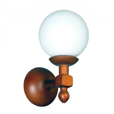 Светильник настенный бра Аврора 11002-1B Беллабра рустика<br><br><br>Тип лампы: Накаливания / энергосбережения / светодиодная<br>Тип цоколя: E27<br>Количество ламп: 1<br>Ширина, мм: 150<br>Расстояние от стены, мм: 200<br>Высота, мм: 290<br>Оттенок (цвет): каркас из дерева цвета дуб, выдувной плафон белого цвета<br>MAX мощность ламп, Вт: 60