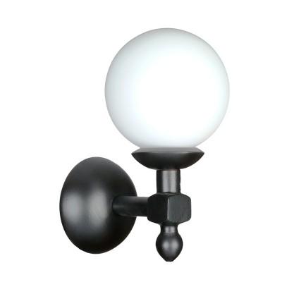 Аврора Белла 11003-1B Светильник настенный браРустика<br><br><br>Тип лампы: Накаливания / энергосбережения / светодиодная<br>Тип цоколя: E27<br>Количество ламп: 1<br>Ширина, мм: 150<br>MAX мощность ламп, Вт: 60<br>Расстояние от стены, мм: 200<br>Высота, мм: 290<br>Оттенок (цвет): каркас из дерева цвета венге, выдувной плафон белого цвета
