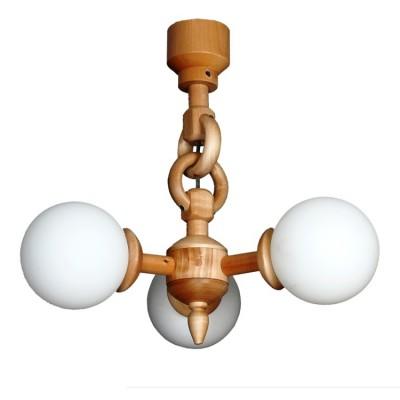 Люстра Аврора 11004-3L СеленаПодвесные<br>Оригинальность коллекции светильников Селена состоит в сложности плетения деревянных колец<br>Деревянный каркас выполнен из тонированной сосны в трех цветах – натуральный, дуб и венге.<br>Плафон из белого матового стекла<br>Настенный светильник можно крепить вниз и вверх плафоном.<br>Светильники прекрасно подойдут к загородным, деревенским, кантри интерьерам, в том числе для оформления кафе.<br><br>Установка на натяжной потолок: Да<br>S освещ. до, м2: 9<br>Крепление: крюк<br>Тип лампы: Накаливания / энергосбережения / светодиодная<br>Тип цоколя: E27<br>Количество ламп: 3<br>Диаметр, мм мм: 370<br>Высота, мм: 500<br>Оттенок (цвет): каркас дерево цвета сосна, выдувные плафоны белого цвета<br>MAX мощность ламп, Вт: 60