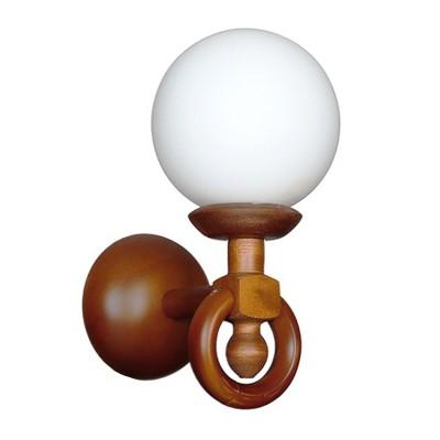 Светильник настенный бра Аврора 11006-1B Селенабра рустика<br><br><br>Тип лампы: Накаливания / энергосбережения / светодиодная<br>Тип цоколя: E27<br>Количество ламп: 1<br>Ширина, мм: 150<br>Расстояние от стены, мм: 200<br>Высота, мм: 290<br>Оттенок (цвет): каркас из дерева цвета дуб, выдувной плафон белого цвета<br>MAX мощность ламп, Вт: 60