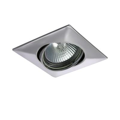 Lightstar LEGA 11034 СветильникКвадратные<br>Встраиваемые светильники – популярное осветительное оборудование, которое можно использовать в качестве основного источника или в дополнение к люстре. Они позволяют создать нужную атмосферу атмосферу и привнести в интерьер уют и комфорт. <br> Интернет-магазин «Светодом» предлагает стильный встраиваемый светильник Lightstar 11034. Данная модель достаточно универсальна, поэтому подойдет практически под любой интерьер. Перед покупкой не забудьте ознакомиться с техническими параметрами, чтобы узнать тип цоколя, площадь освещения и другие важные характеристики. <br> Приобрести встраиваемый светильник Lightstar 11034 в нашем онлайн-магазине Вы можете либо с помощью «Корзины», либо по контактным номерам. Мы развозим заказы по Москве, Екатеринбургу и остальным российским городам.<br><br>Тип лампы: галогенная/LED<br>Тип цоколя: MR16 / gu5.3 / GU10<br>Цвет арматуры: серебристый<br>Количество ламп: 1<br>Размеры: Диаметр  врезного  тверстия<br>MAX мощность ламп, Вт: 50