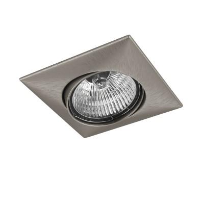 Lightstar LEGA 11035 СветильникКвадратные<br>Встраиваемые светильники – популярное осветительное оборудование, которое можно использовать в качестве основного источника или в дополнение к люстре. Они позволяют создать нужную атмосферу атмосферу и привнести в интерьер уют и комфорт. <br> Интернет-магазин «Светодом» предлагает стильный встраиваемый светильник Lightstar 11035. Данная модель достаточно универсальна, поэтому подойдет практически под любой интерьер. Перед покупкой не забудьте ознакомиться с техническими параметрами, чтобы узнать тип цоколя, площадь освещения и другие важные характеристики. <br> Приобрести встраиваемый светильник Lightstar 11035 в нашем онлайн-магазине Вы можете либо с помощью «Корзины», либо по контактным номерам. Мы развозим заказы по Москве, Екатеринбургу и остальным российским городам.<br><br>Тип лампы: галогенная/LED<br>Тип цоколя: MR16 / gu5.3 / GU10<br>Цвет арматуры: серебристый<br>Количество ламп: 1<br>Размеры: Диаметр  врезного  отверстия<br>MAX мощность ламп, Вт: 50
