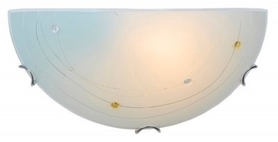 Светильник Colosseo 11036/1Накладные<br><br><br>Тип товара: Светильник настенный бра<br>Скидка, %: 35<br>Тип лампы: накаливания / энергосбережения / LED-светодиодная<br>Тип цоколя: E27<br>Ширина, мм: 300<br>MAX мощность ламп, Вт: 60<br>Расстояние от стены, мм: 90<br>Высота, мм: 150<br>Цвет арматуры: серебристый