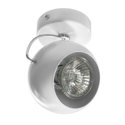 Светильник Lightstar 110566 OCCHIOОдиночные<br><br><br>S освещ. до, м2: 3<br>Тип лампы: галогенная/LED<br>Тип цоколя: GU10<br>Цвет арматуры: белый<br>Количество ламп: 1<br>Диаметр, мм мм: 90<br>Высота, мм: 110<br>MAX мощность ламп, Вт: 50