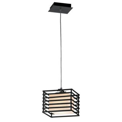 Светильник Lamplandia 1109-1 CosmoОдиночные<br>Стильный подвес в современном стиле выполнен из черного металла с белым матовым плафоном в форме куба.<br><br>S освещ. до, м2: 3<br>Крепление: потолочный<br>Тип лампы: накаливания / энергосбережения / LED-светодиодная<br>Тип цоколя: E27<br>Количество ламп: 1<br>Ширина, мм: 200<br>MAX мощность ламп, Вт: 60<br>Длина, мм: 200<br>Высота, мм: 250 - 1500<br>Цвет арматуры: черный
